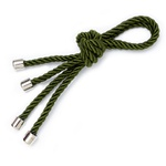 Porta guardanapo cordão verde militar