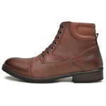 Bota Coturno Masculino Casual Atualshoes Couro Whisky