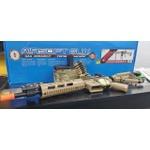 RIFLE DE AIRSOFT ELÉTRICO G&G CM16 MACHINE GUN LMG SUPORTE