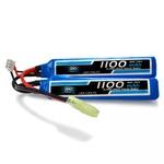Bateria Lipo - 7.4V/2S(2 pack) - 1100mAh - 20C/40C AIRSOFT