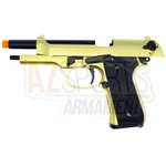 PISTOLA DE AIRSOFT WE M92-Ser Standard Gold-BLOWBACK