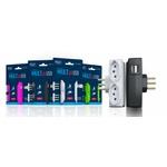 CARREGADOR MULT + USB 2P+T 20A 250V