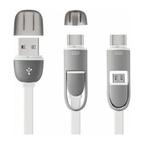CABO MULTILASER 2 EM 1 TYPE E MICRO USB 1,5M