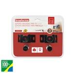 SUPORTE TV PLASMA/LCD 10 A 85 POLEGADAS PRETO