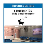 SUPORTE TV LCD PARA TETO 10 A 55 POLEGADAS BRANCO