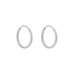 Brinco de ouro branco 18k - Argola