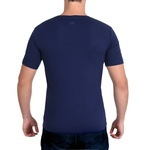 Camiseta Ultra Slim Curta Azul - Algodão Egípcio