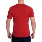 Camiseta Ultra Slim Curta Vermelha - Algodão Egípcio