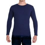 Camiseta Ultra Slim Longa Azul - Algodão Egípcio
