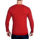 Camiseta Ultra Slim Longa Vermelho - Algodão Egípcio