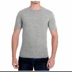 Camiseta Gola Redonda Curta Cinza Mescla - Algodão Egípcio
