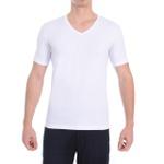 Camiseta Gola V Manga Curta Branca - Algodão Egípcio