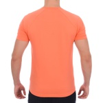 Camisa Raglan Manga Curta Laranja Claro - Algodão Egípcio
