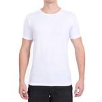 Camiseta Gola Redonda Curta Branca - Algodão Egípcio