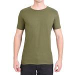 Camiseta Gola Redonda Curta Verde - Algodão Egípcio