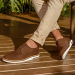 Sapato Masculino Derby - Hugh Camurça Café