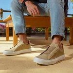Tênis Masculino Sneaker John - Marfim
