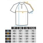 Camisa Raglan Manga Curta Azul - Algodão Egípcio
