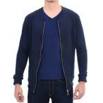 Suéter de Moletom Azul Marinho