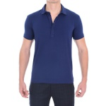 Camisa Polo Azul - Algodão Egípcio