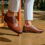 Sapato Social Oxford Winston Mirror Shine Damasco
