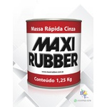 MASSA RÁPIDA CINZA MAXI RUBBER 1,25KG