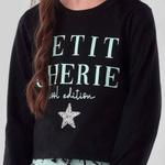 Conjunto Menina Petit Cherie Blusa Saia Silk Letras Estrela
