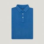 Camisa Polo Azul Petroleo Algodão