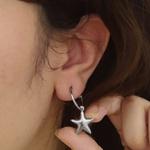 Mini Brinco De Argola Estrela - Aço Inox