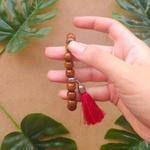 Japamala 27 Contas De Madeira - Vermelho