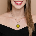 Colar Mandala Amarela M3 - Prosperidade e Criatividade