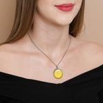 Colar Mandala Amarela M1 - Prosperidade e Criatividade
