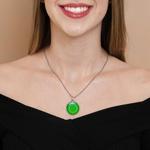 Colar Mandala Verde M1 - Cura e Segurança