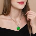 Colar Mandala Verde M3 - Cura e Segurança