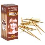 Palito De Dente Gina Cx Com 100un