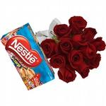 18 Rosas Vermelhas + Chocolates
