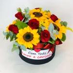 Box Girassol com Rosas