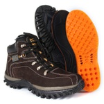 Bota Adventure Bergally Caterpillar Cano Alto Marrom