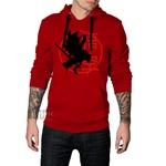 Blusa de Moletom Canguru Vermelho Dragon Ball