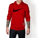 Blusa Moleton Nike Espada C/ Capuz Casaco De Frio Vermelho