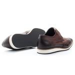 Sapato Oxford Masculino em Couro cor Café