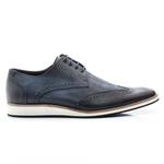 Sapato Oxford Masculino em Couro cor Marinho