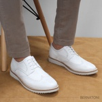 Sapato Brogue Bernatoni Milão Branco