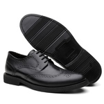 Sapato Casual Bernatoni Brogue Paris Preto