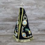 Imagem Resina - Nossa Senhora Aparecida 40 cm - Manto Tecido Bordado