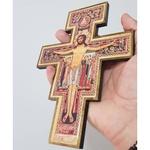 Cruz São Damião para parede 19 cm