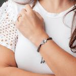 Pulseira Hematita-Sagrados Corações