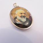 Medalha Oval São Padre Pio 4 cm