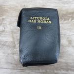Capa em couro Liturgia das Horas - Preta Volume III