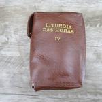 Capa em couro Liturgia das Horas - Marrom Volume IV